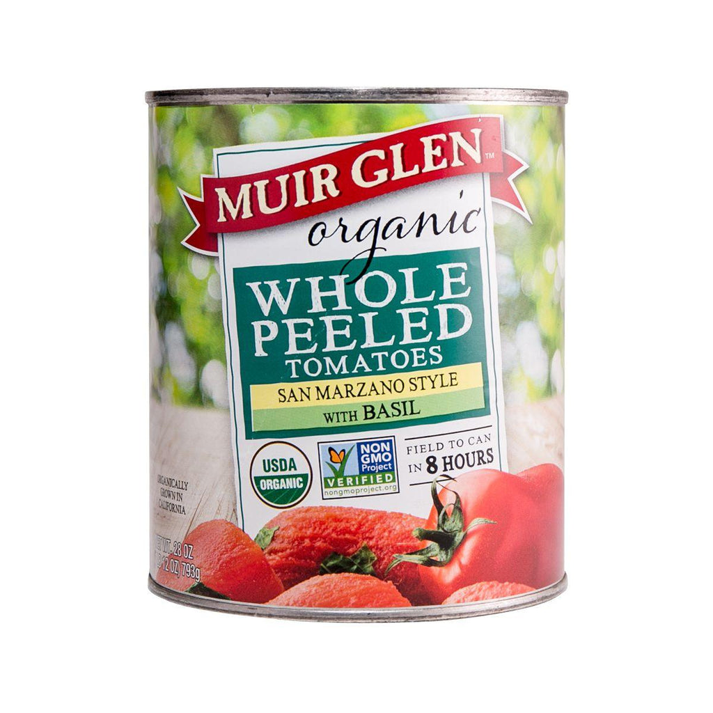 MUIR GLEN Organic Whole Peeled Tomatoes With Basil  (793g)