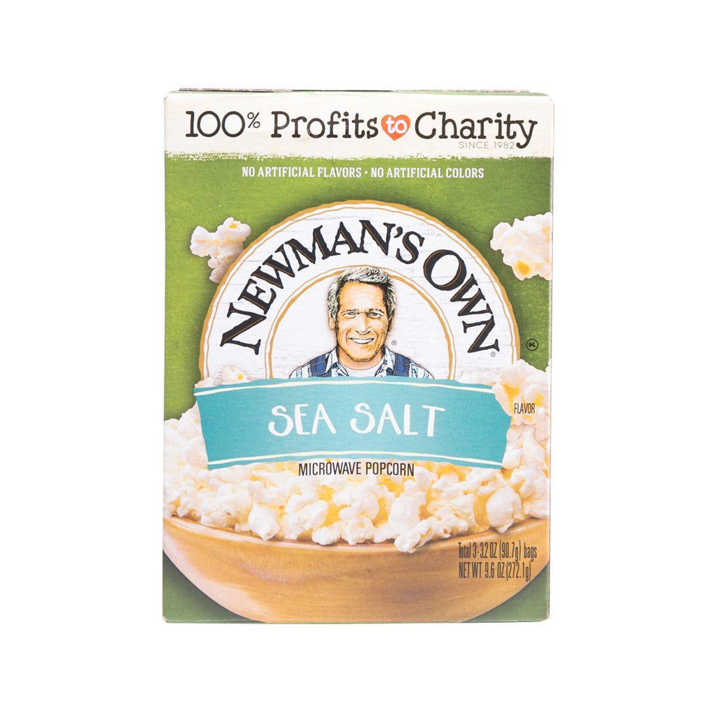 NEWMAN`S OWN Microwave Popcorn - Sea Salt  (272.1g)