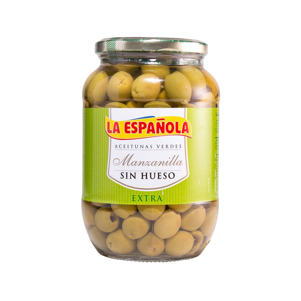 LA ESPANOLA Spanish Pitted Green Olives Manzanilla  (815g)