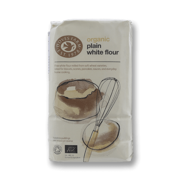 DOVES FARM Organic Plain White Flour  (1kg)