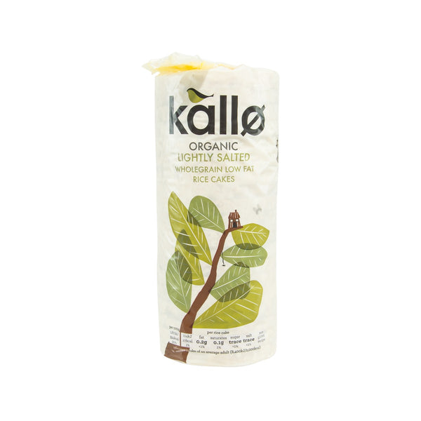 KALLO Organic Lightly Salted Wholegrain Low Fat Rice Cakes  (130g)