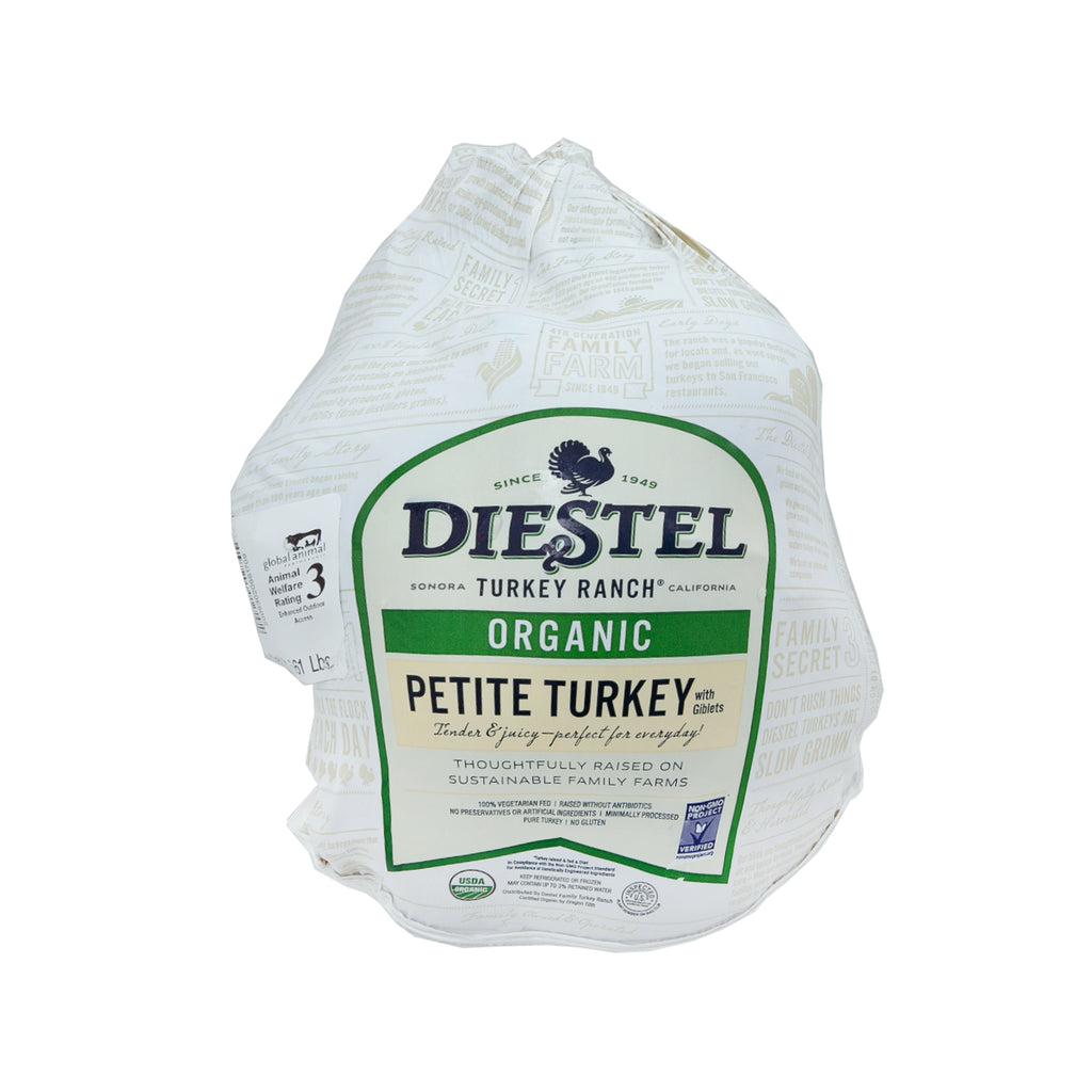 DIESTEL USA Organic Young Turkey 12-14lbs (with Defrosting Service)  (1pc)