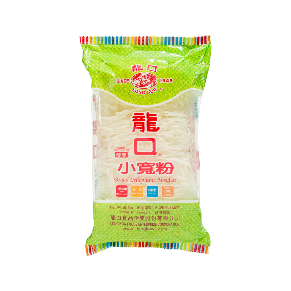LONG KOW Broad Cellophane Noodles  (180g)