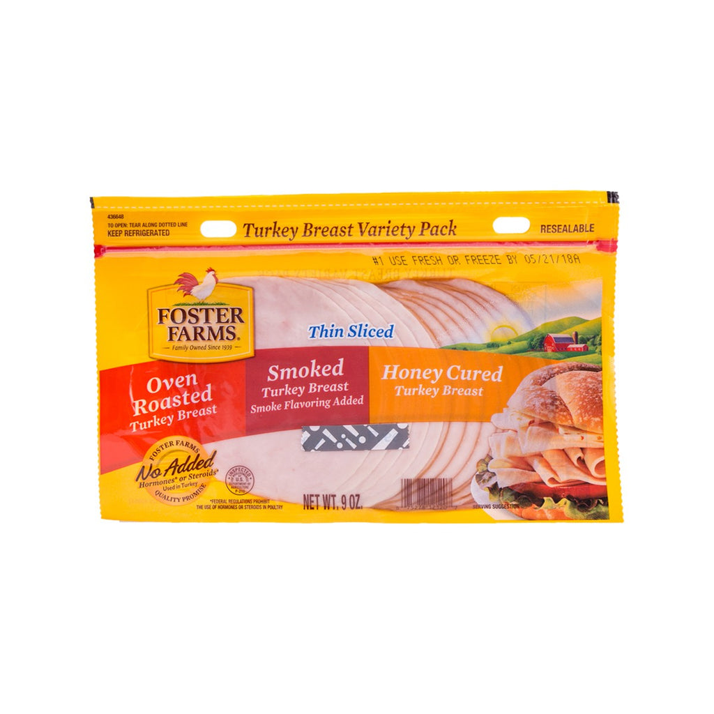 FOSTER FARMS Turkey Breast Variety Pack  (9oz)