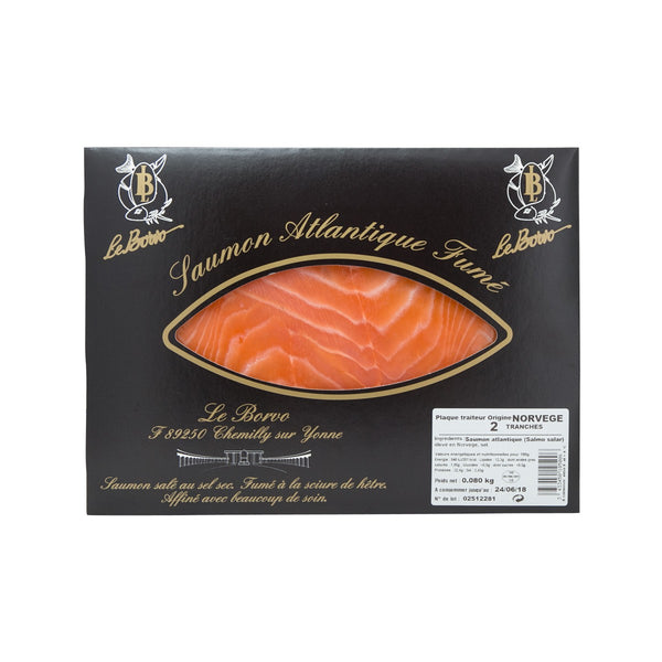 LE BORVO Sliced Smoked Norwegian Salmon  (80g)