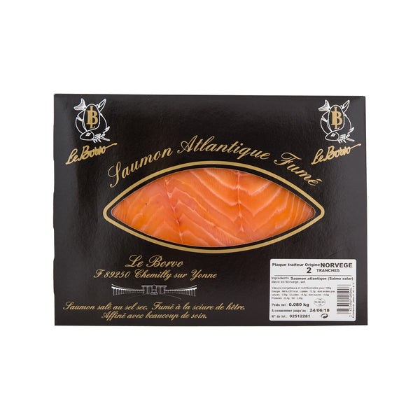 LE BORVO Sliced Smoked Norwegian Salmon  (160g)
