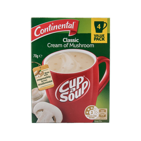 CONTINENTAL Cup-A-Soup - Classic Cream of Mushroom  (70g)