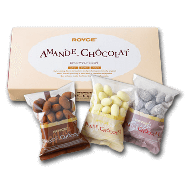 ROYCE' Almond Chocolate - Assorted Box  (3 x 120g)