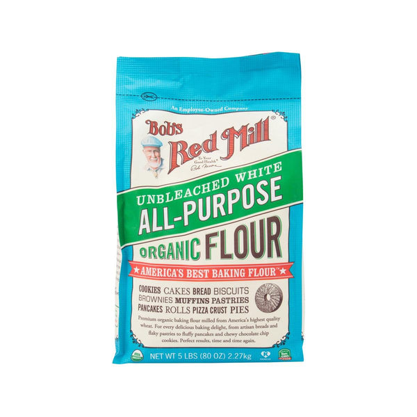 Bob's Red Mill Organic Unbromated Unbleached White Flour(2.27kg)