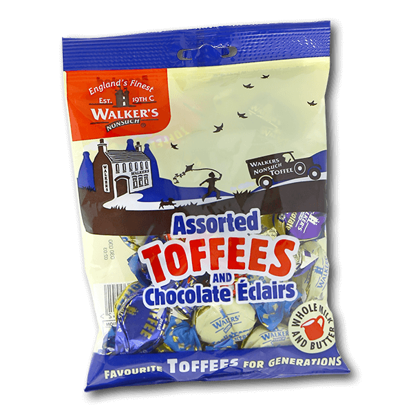 WALKERS Assorted Toffees and Chocolate Eclairs  (150g)
