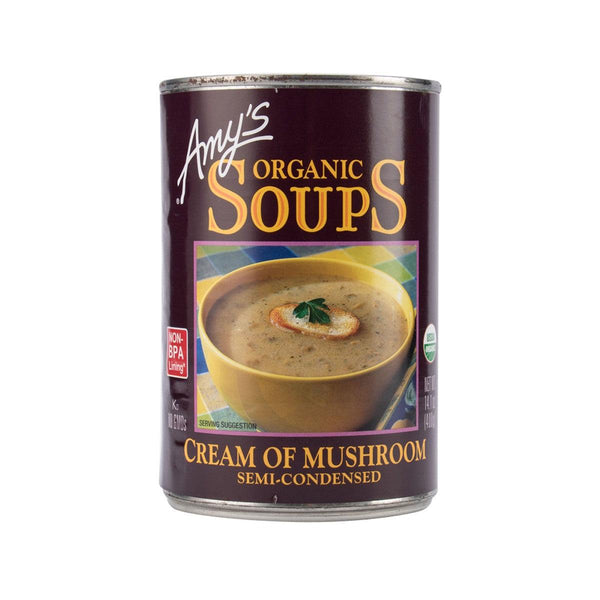 AMY'S KITCHEN Organic Soups - Semi-Condensed Cream of Mushroom  (400g)