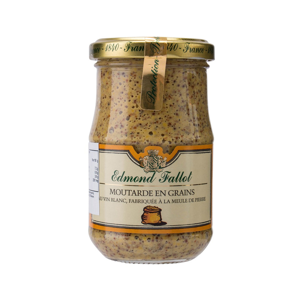 EDMOND FALLOT White Wine Mustard With Seed  (205g)