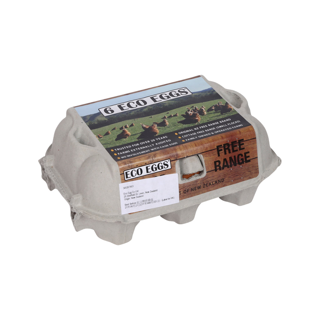 ECO EGG Free Range Eggs  (6pcs)