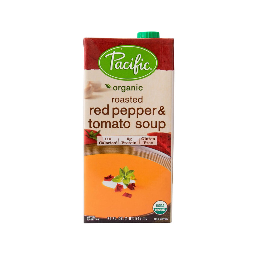 Pacific Organic Roasted Red Pepper & Tomato Soup(946mL)