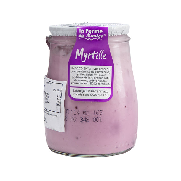 FERME DU MANEGE Whole Milk Yogurt - Blueberry  (180g)