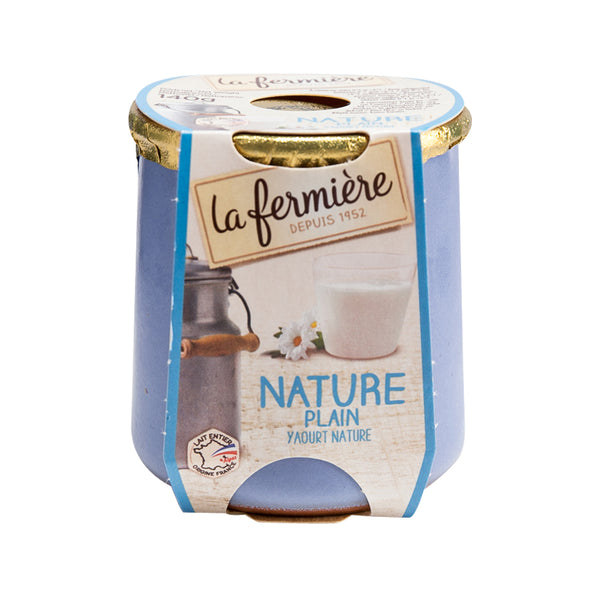 LA FERMIERE Yogurt - Plain  (140g)