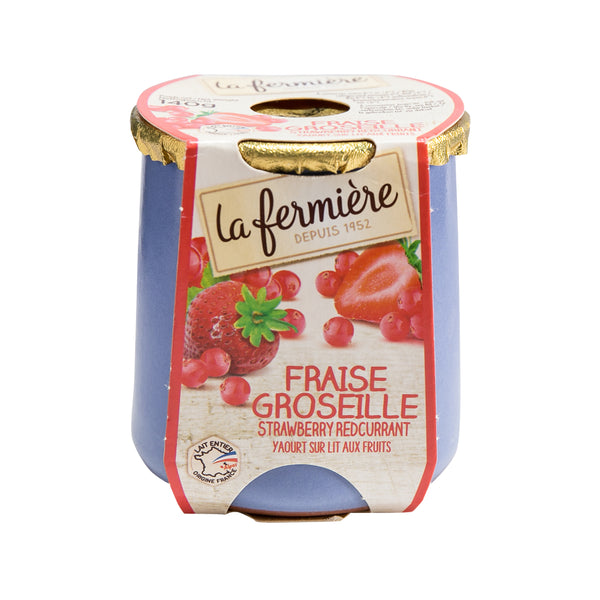 LA FERMIERE Yogurt - Strawberry, Redcurrant  (140g)