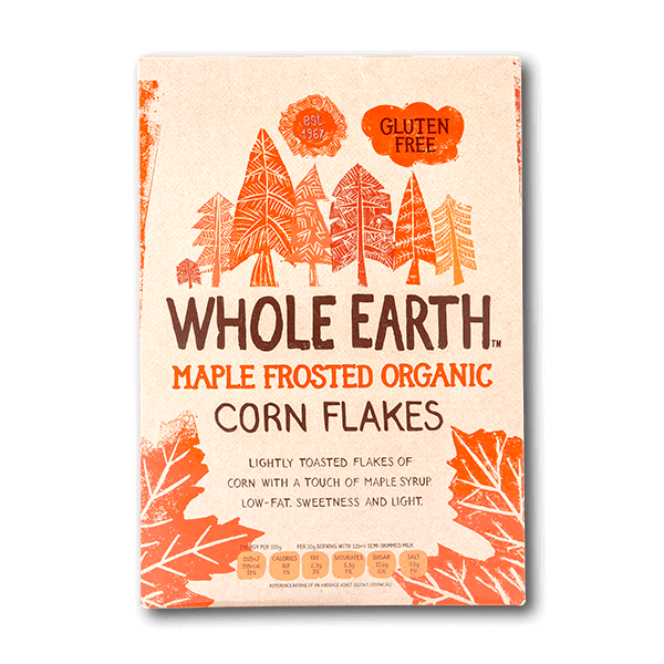 WHOLE EARTH Maple Frosted Organic Flakes  (375g)