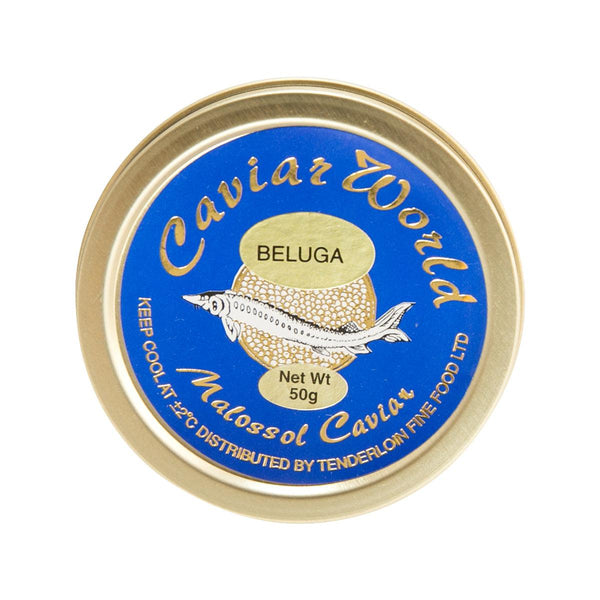 CAVIAR WORLD Farmed Beluga Malossol Caviar  (50g)