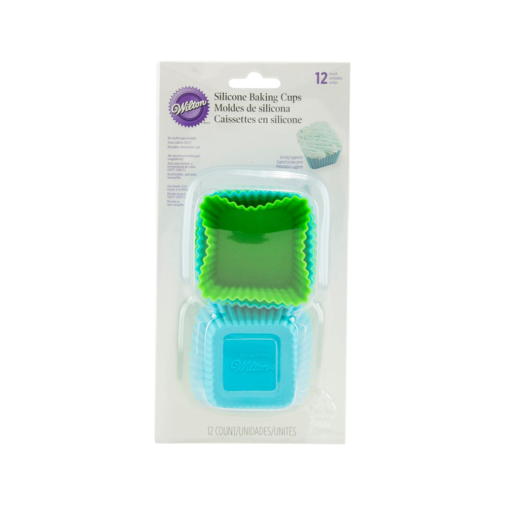 WILTON Square Silicone Baking Cups  (12pcs)