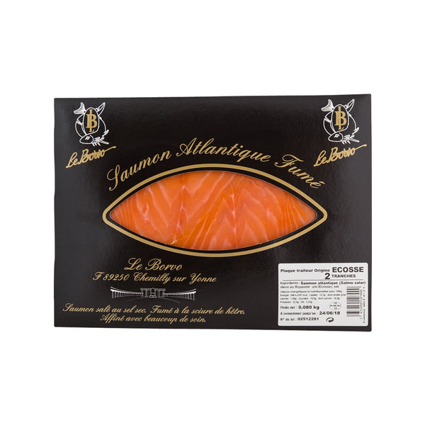 LE BORVO Sliced Smoked Atlantic Salmon  (80g)