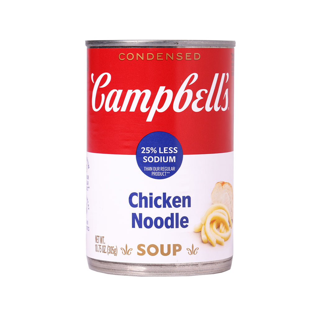 CAMPBELL'S 25% Less Sodium Chicken Noodle Soup  (305g)