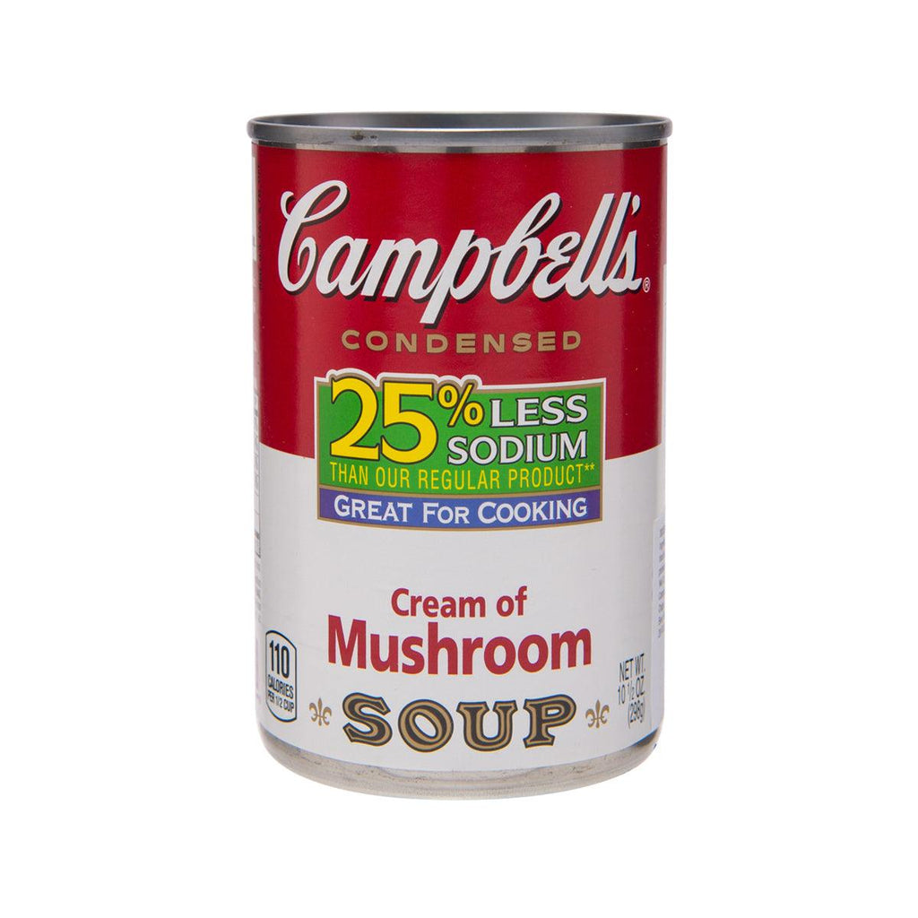 CAMPBELL'S 25% Less Sodium Cream of Mushroom Soup  (298g)