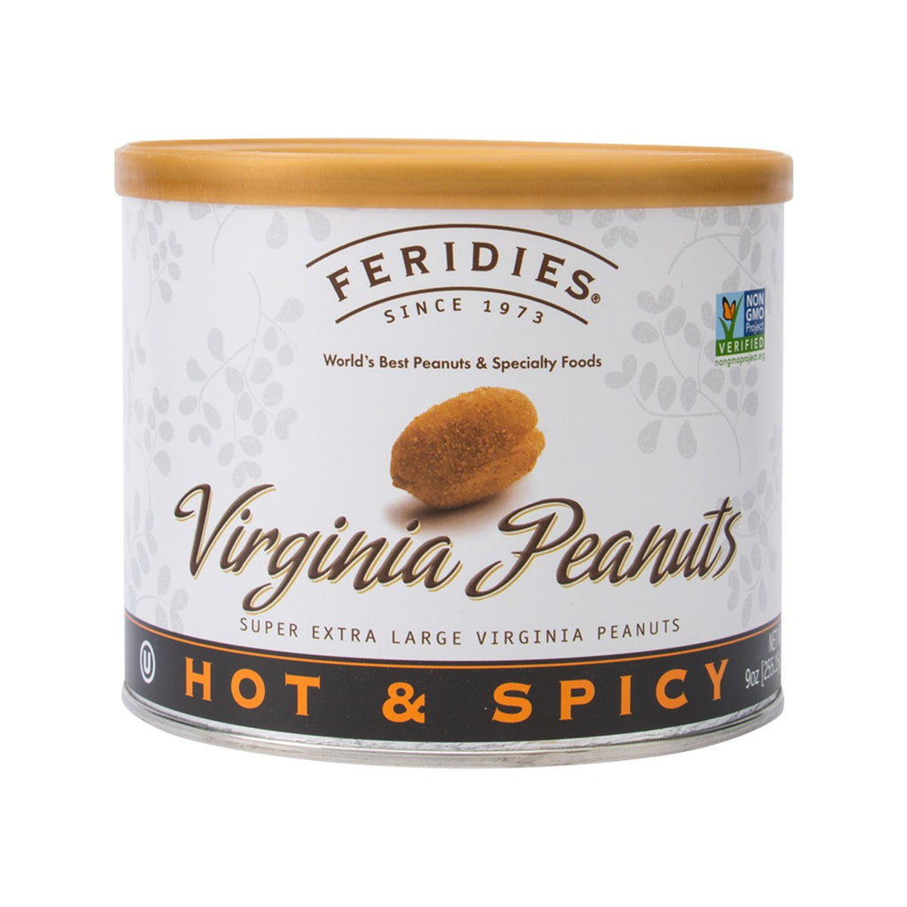 Feridies Natural Hot & Spicy Super Extra Large Virginia Peanuts(255.15g)