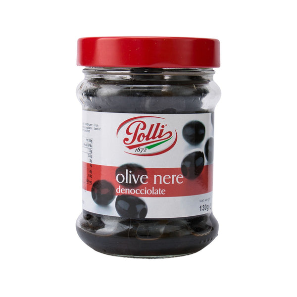 Polli Pitted Black Olives(130g)