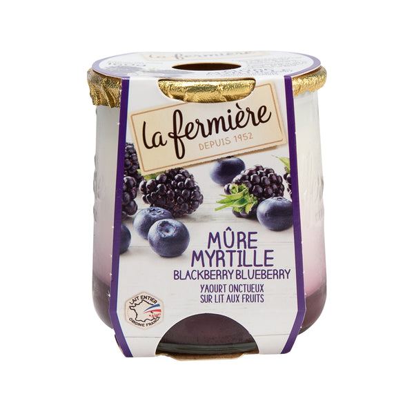 LA FERMIERE Creamy Lemon Yogurt - Blackberry & Blueberry  (160g)