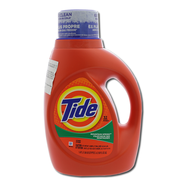 TIDE Concentrated Liquid Detergent - Mountain Spring Scent  (50fl oz)