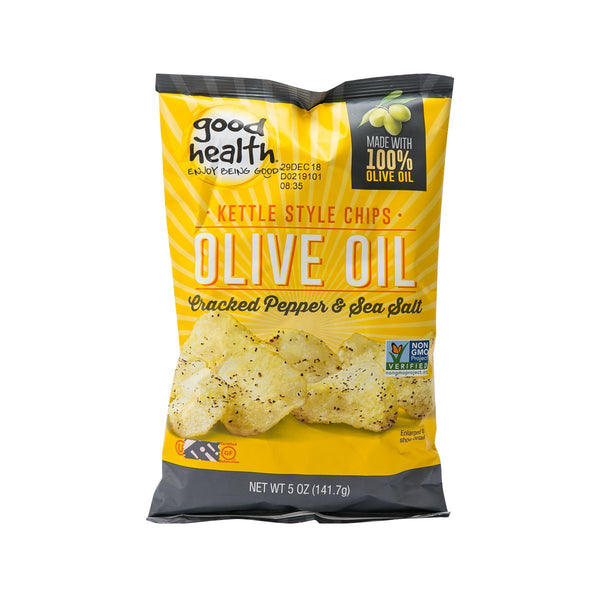 GOOD HEALTH Olive Oil Potato Chip - Cracked Pepper & Sea Salt  (141.7g)