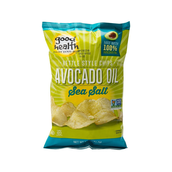 GOOD HEALTH Kettle Style Avocado Oil Potato Chips - Sea Salt  (141.7g)