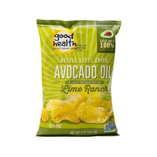GOOD HEALTH Kettle Style Avocado Oil Potato Chips - Chilean Lime  (141.7g)
