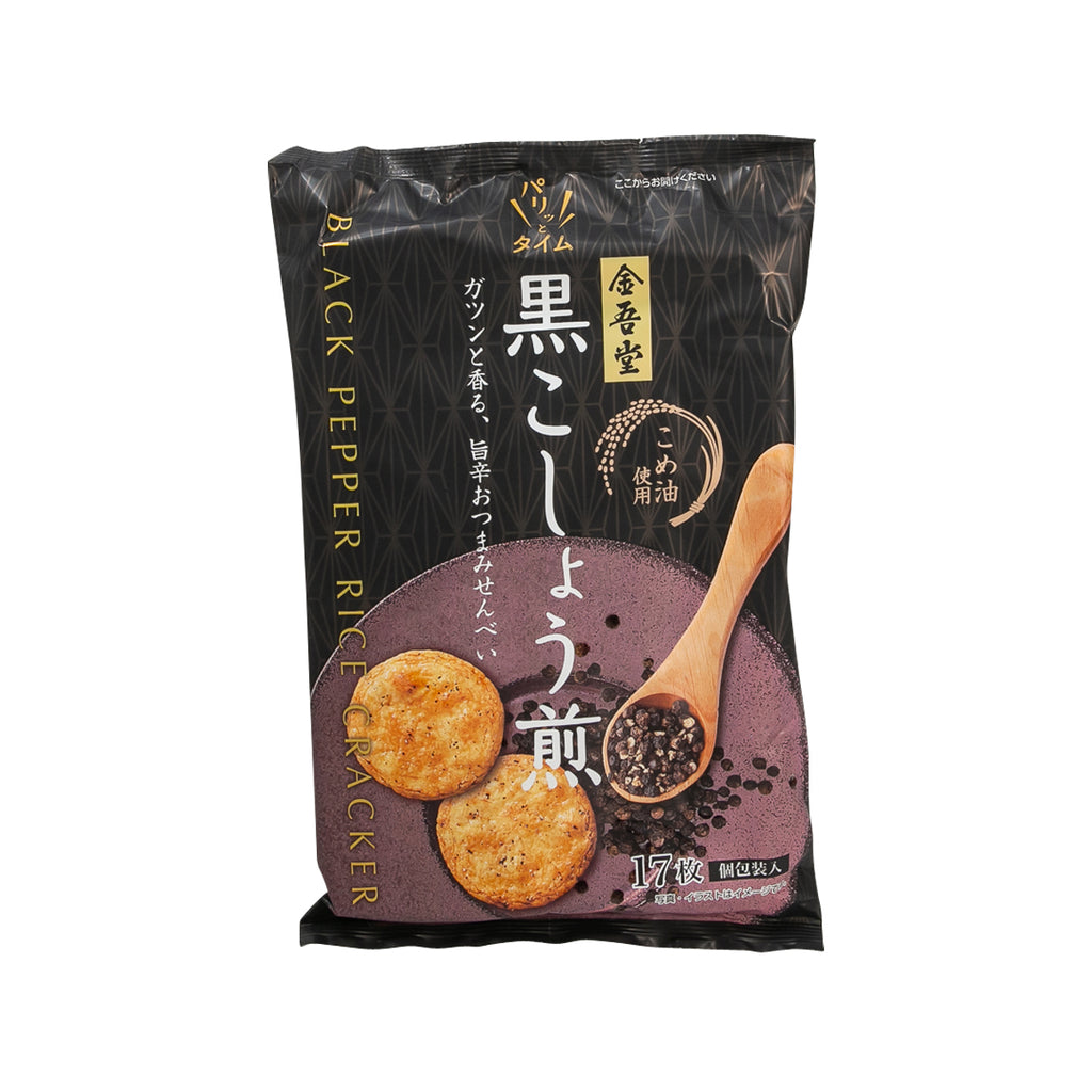 KINGODO Black Pepper Rice Cracker  (18pcs)