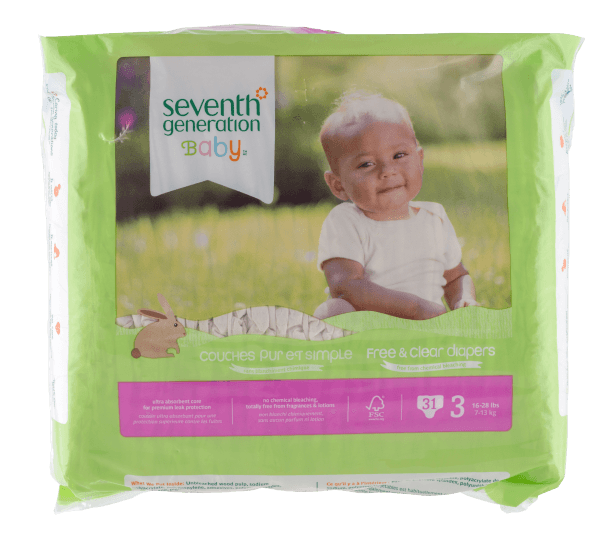 SEVENTH GENERATION Chlorinefree Diapers - M, Stage3