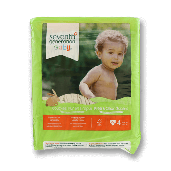 SEVENTH GENERATION Chlorinefree Diapers - L, Stage4