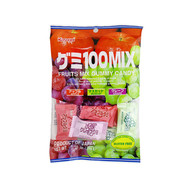 KASUGAI Fruits Mix Gummy Candy  (102g)