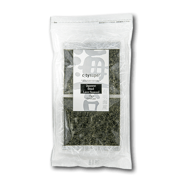 city'super Japanese Dried Laver Seaweed 1/4 Size(15g)