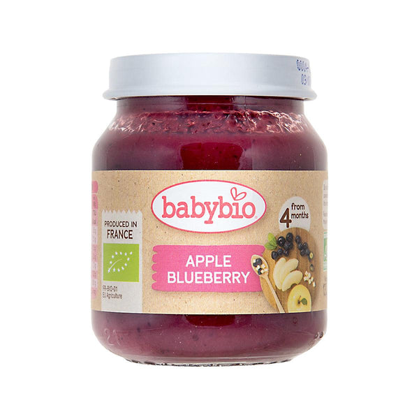 Babybio Organic Fruits Puree For Infants - Blueberry & Apple(130g)