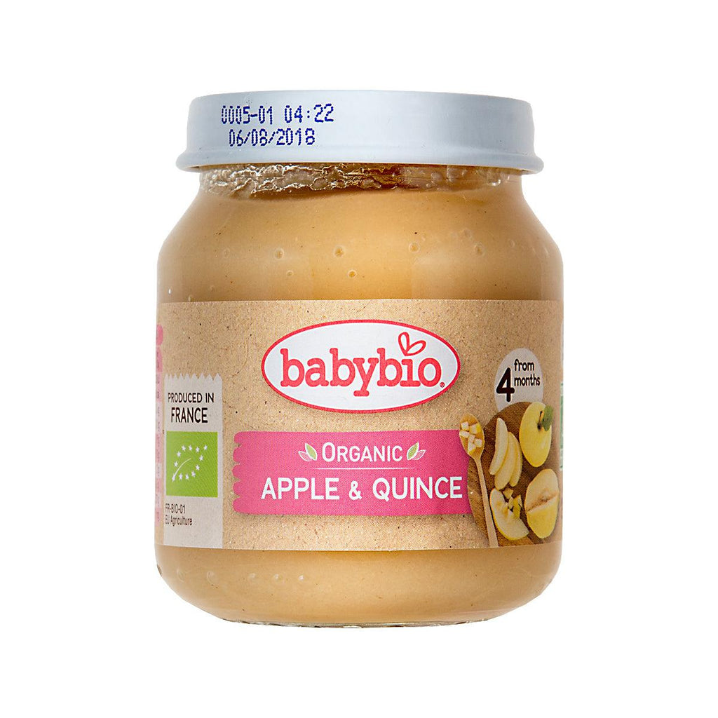 Babybio Organic Fruits Puree For Infants - Apple & Quince(130g)