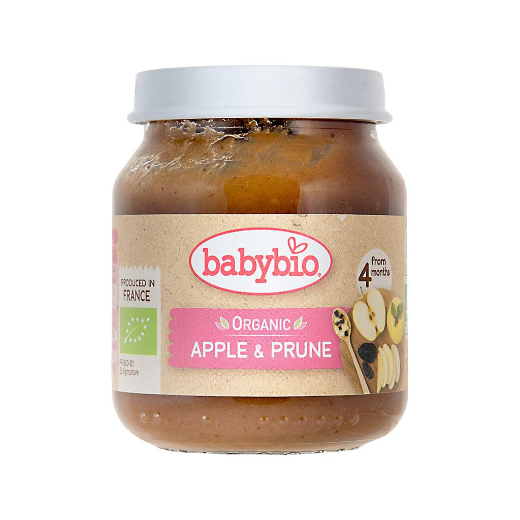 Babybio Organic Fruits Puree For Infants - Apple & Prune(130g)