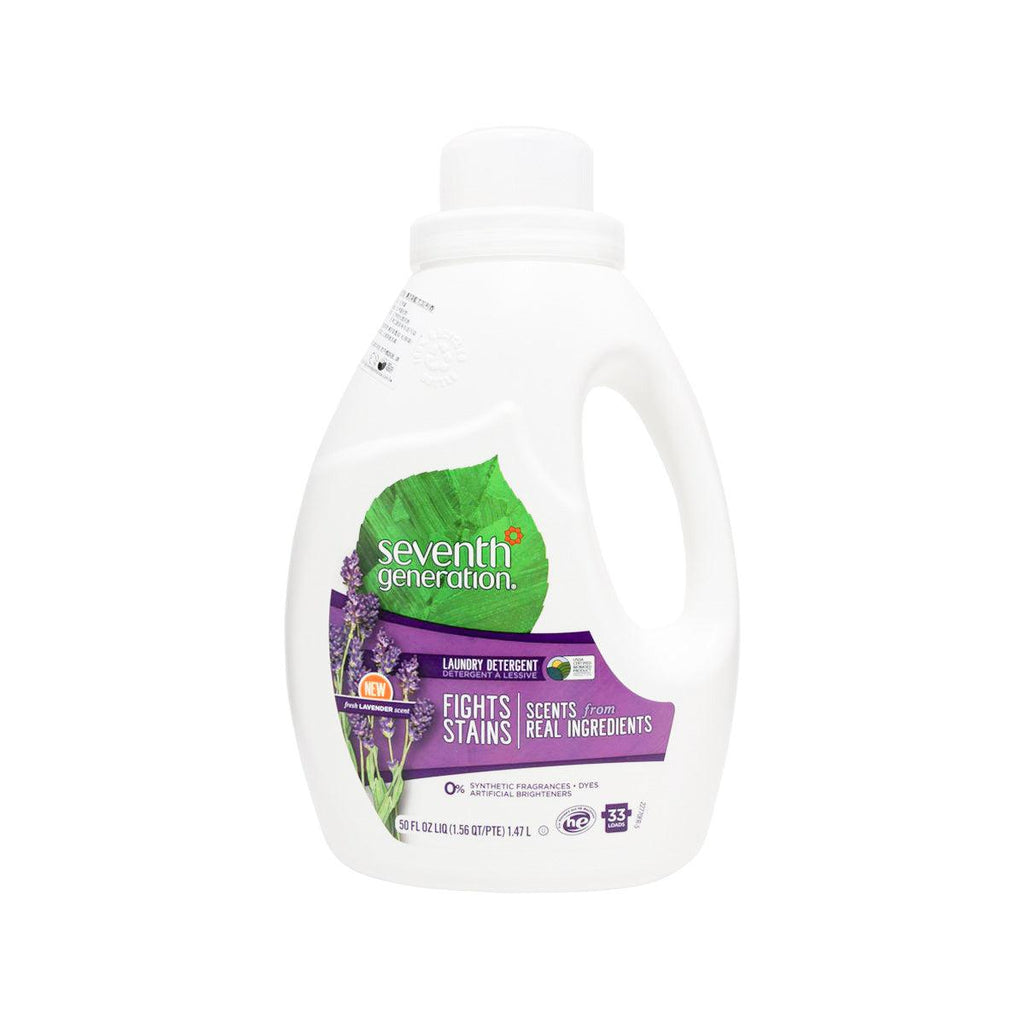 SEVENTH GENERATION Natural Laundry Liquid 2X - Eucalyptus & Lavender  (50fl oz)