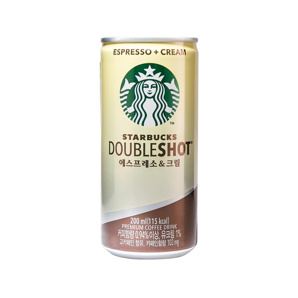STARBUCKS Doubleshot Premium Coffee Drink - Espresso+Cream  (200mL)