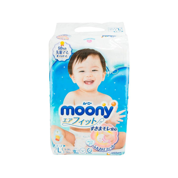 UNICHARM Moony Diapers Tape Type - L Size  (54pcs)