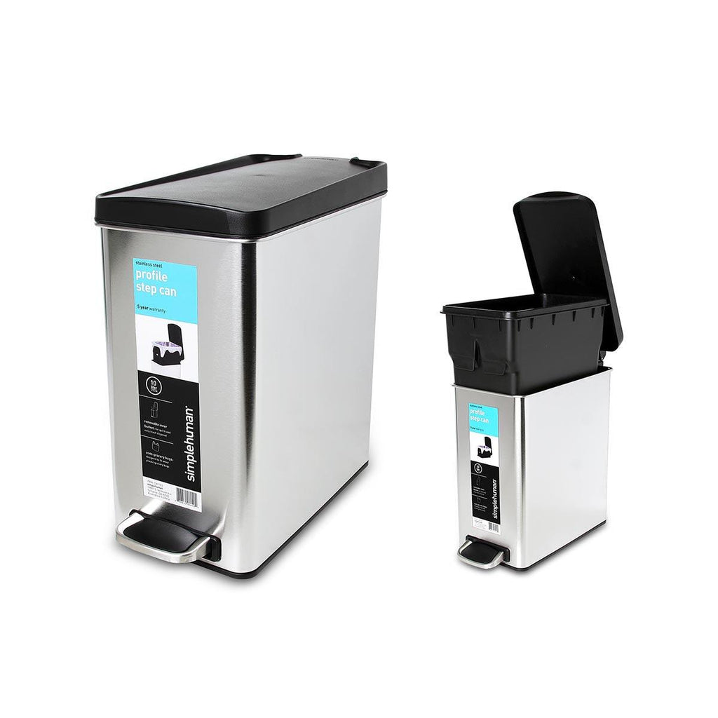 SIMPLEHUMAN Profile Step Can-Brushed 10L