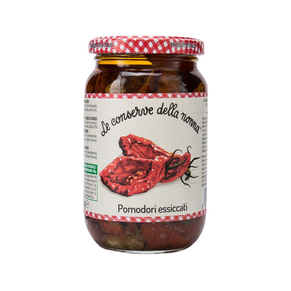 DELLA NONNA Dried Tomatoes in Sunflower Seeds Oil with Capers & Herbs  (340g)