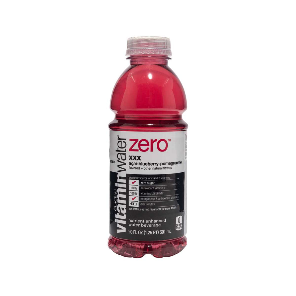 GLACEAU Vitamin Water Zero - XXX Acai-Blueberry-Pomegranate  (591mL)