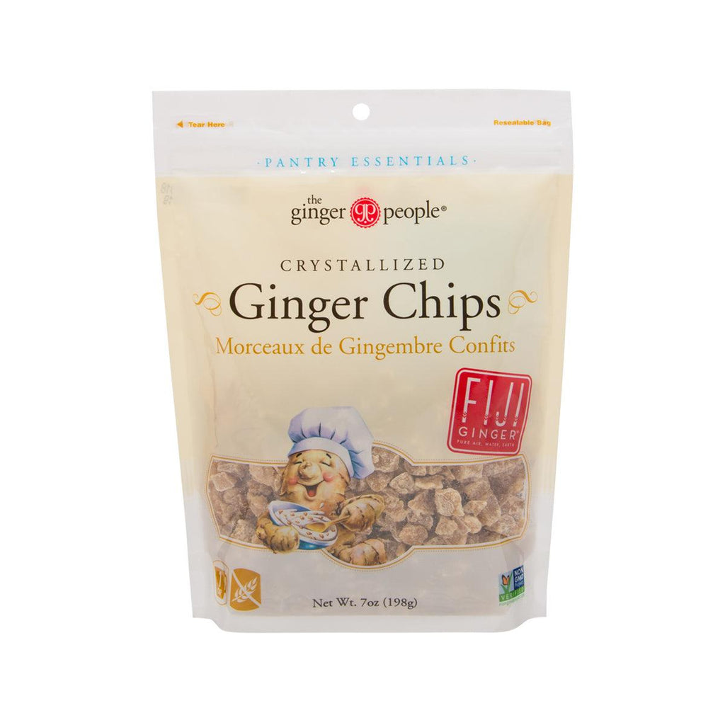 THE GINGER PEOPLE Crystallized Ginger Chips  (198g)