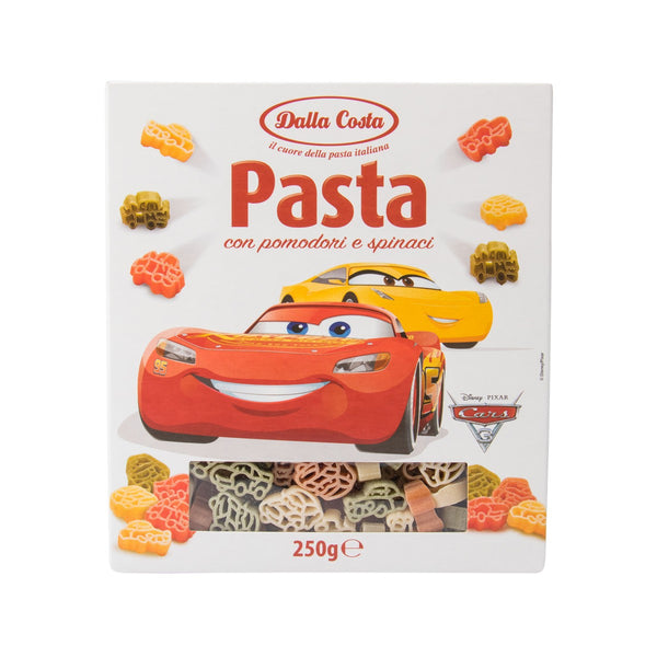 DALLA COSTA Durum Wheat Semolina Pasta With Tomato & Spinach - Cars  (250g)